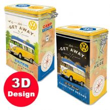 VW Get Away -  Hinged Embossed Storage Tin